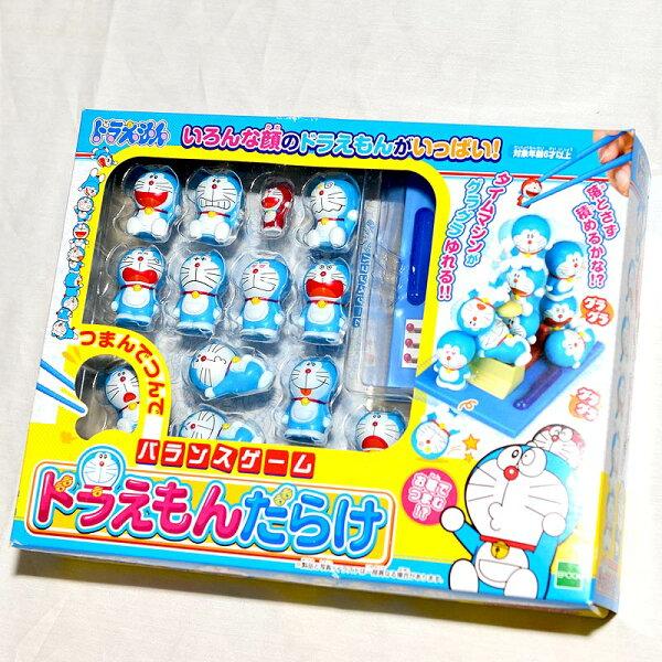 哆啦A夢與時光機DORAEMON一起玩疊疊樂夾夾樂日本帶回正版益智