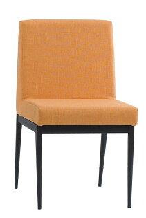 【石川家居】JF-486-7卡特黑腳布餐椅-橘色(單只)(不含其他商品)台北到高雄搭配車趟免運