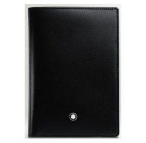 萬寶龍MONTBLANC-經典亮面直立式4卡皮夾