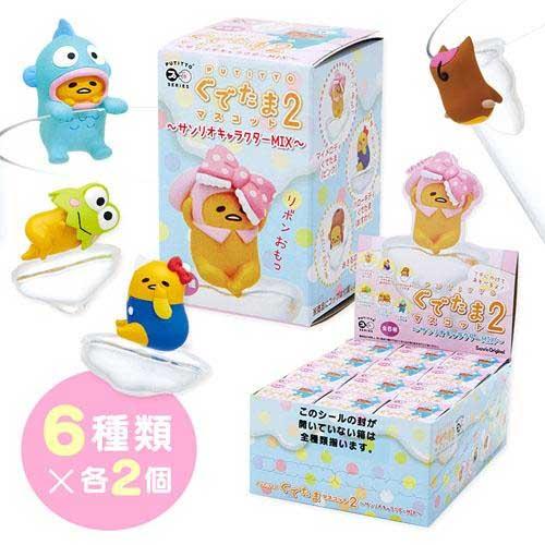 蛋黃哥杯緣造型假扮三麗鷗全角色盒玩第2彈共6款單賣或整盒都可日本帶回正版商品