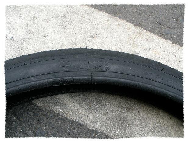 正新輪胎20 x 1.75 細紋《意生自行車》