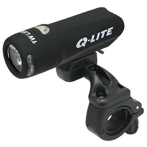 Q-LITE 1W超高亮度白光LED前燈 (時尚黑)《 意生自行車 》