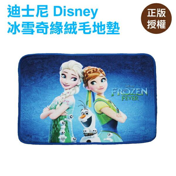 冰雪奇緣絨毛地墊-雪寶 腳踏墊 門墊 迪士尼 Disney〔蕾寶〕