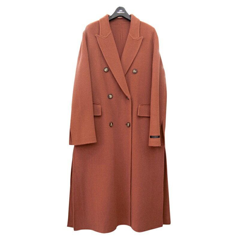 毛呢大衣羊毛外套-純色雙排扣百搭長版女外套3色73wb31【獨家進口】【米蘭精品】 1