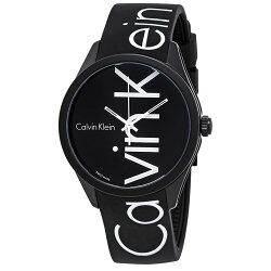美國百分百【Calvin Klein】配件 CK 手錶 腕錶 石英錶 大錶面 運動時尚 logo 黑色 J771