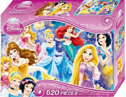迪士尼公主520片盒裝拼圖(B)