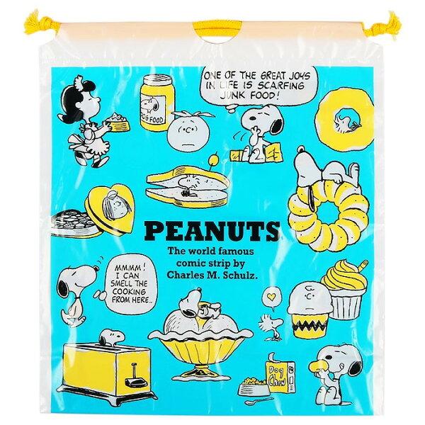 X射線【C116715】史努比Snoopy塑膠縮口袋M,縮口袋防塵袋置物袋旅行收納袋整理袋束口袋化妝包