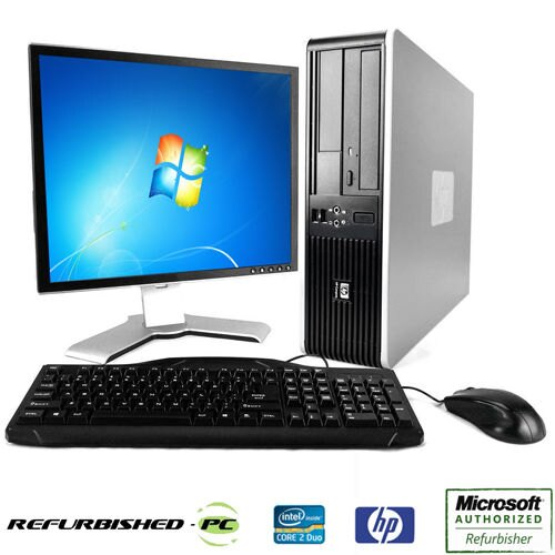 Refurbished-PC: HP Compaq DC7800 Desktop Computer - Intel Core 2 Duo