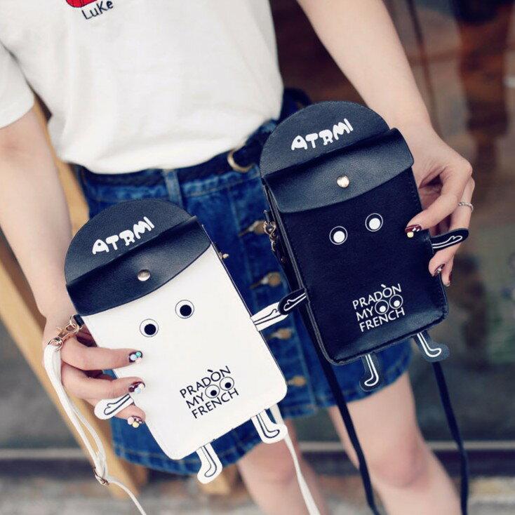 [現貨 小熊日系]手機包 卡通人偶造型時尚手機包  側背包日韓