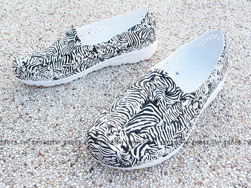 《限時特價79折》Shoestw【72U1SA33BK】PONY TROPIC 水鞋 軟Q 防水 懶人鞋洞洞鞋 黑白 斑馬紋 女生