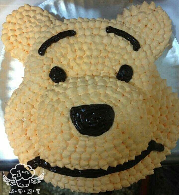 【戚風國度bite me-造型蛋糕】小熊維尼~立體造型蛋糕~8吋、10吋生日蛋糕~可選擇巧克力蛋糕體或香草蛋糕體~