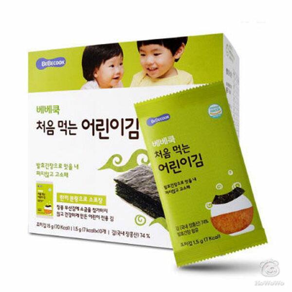 韓國智慧媽媽嬰幼兒無鹽海苔~原味(12個月以上)50478好娃娃