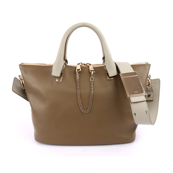 【CHLOE】Baylee Small two-tone tote 小牛皮 ( 灰/駝) 3S0169 882 07V