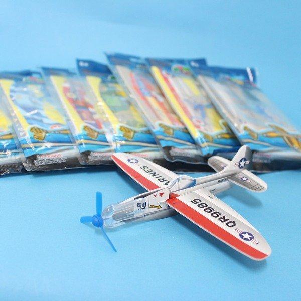 DIY保麗龍飛機童玩 迴力飛機+前螺旋槳造型(塑膠彩袋裝.中)/一袋10支入{定10}~CF115764