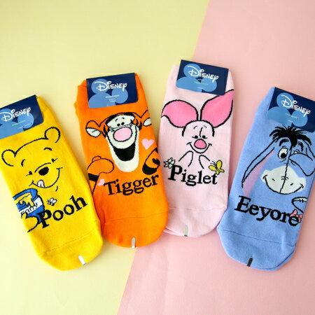 韓國 小熊維尼系列字母造型短襪 襪子 造型襪 流行襪 迪士尼【N202202】