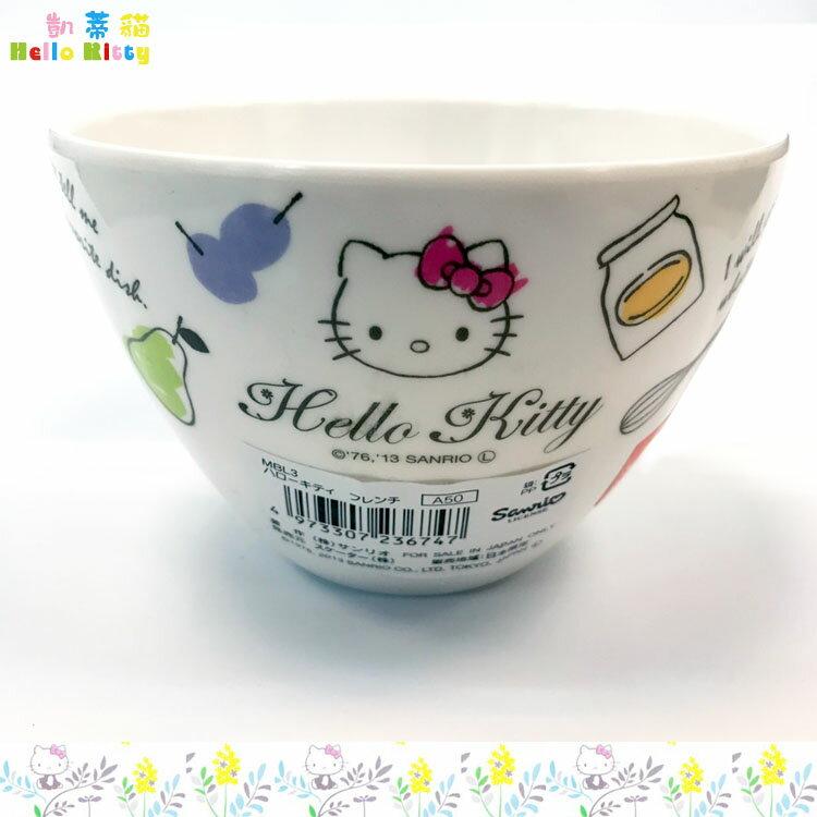 三麗鷗 凱蒂貓 Hello Kitty 美耐皿碗 餐碗 湯碗 兒童碗 環保餐具日本進口正版 236747