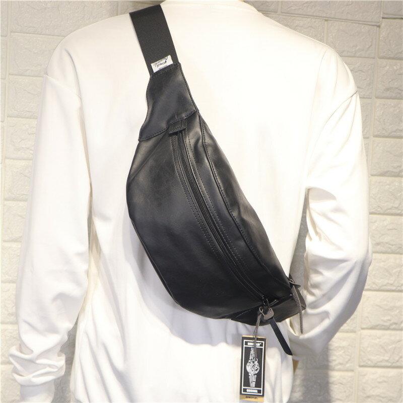 胸包(男)潮流個性男士胸包 時尚日韓復古單肩包 男大容量斜跨腰包【XXL0753】