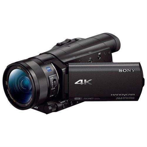 "Sony Handycam FDR-AX100 Digital Camcorder - 3.5"" - Touchscreen LCD - CMOS - 4K - Black - 16:9 - 20 Megapixel Image - 14.2 Megapixel Video - MP4, AVCHD, XAVC S, MPEG-4, H.264/MPEG-4 AVC - 12x Optical Zoom - 160x Digital Zoom - Optical (IS) - Speaker, Micro 3"