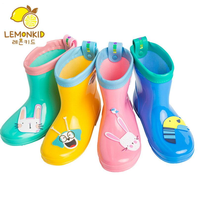 Lemonkid◆PVC兒童耐磨防水防滑輕便短靴雨鞋