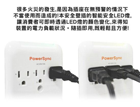 PowerSync群加 3插座+2USB LED指式壁插(TPAWN3OB0009) [大買家] 5