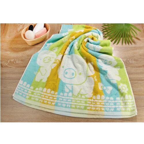 彩虹豬色紗浴巾    【愛買】