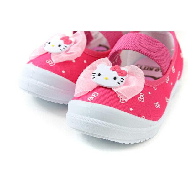 Hello Kitty 凱蒂貓 娃娃鞋 室內鞋 桃紅色 中童 童鞋 719818 no785 3