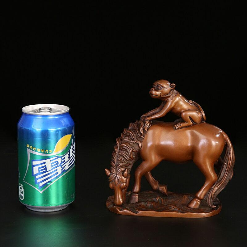 匠澤銅魂紫銅馬擺件風水招財開業家居裝飾品擺件馬上封侯饋贈禮品
