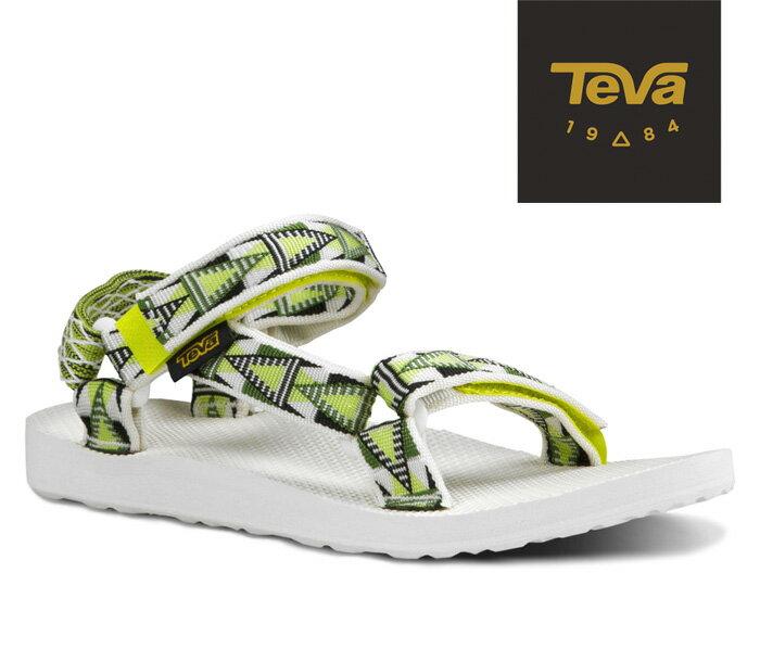 【超值搶購↘原$1680】TEVA |美國| ORIGINAL 原創系列復古款涼鞋 運動涼鞋 女款 格菱黃/TV1003987MACL