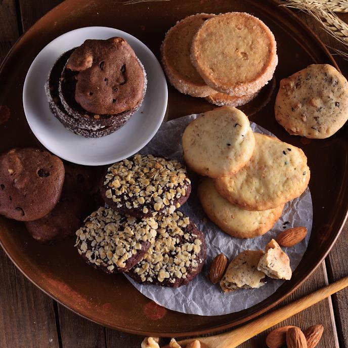 ◆免運◆【食感旅程 Paiatability】綜合餅乾組  60片 6種口味各10片  玫瑰核桃 巧克力燕麥 巧克力核桃 原味鑽石 巧克力鑽石 健康全麥 1