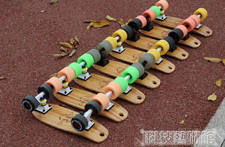 滑板車 代步迷你小滑板四輪滑板成人兒童小魚板便攜滑板單翹板  領券下定更優惠