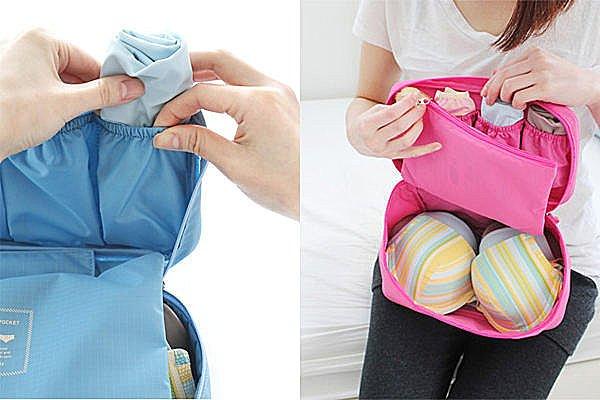 BO雜貨【SV2420】韓版防水收納包 胸衣胸罩內衣旅遊旅行收納袋 旅行收納包 行李箱收納袋組