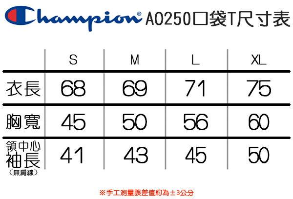 ★現貨+預購★Shoestw【AO250】Champion 服飾 AO250 口袋短T 短袖T恤 胸前有口袋 美規 高磅數 9種顏色 男女都可穿 8