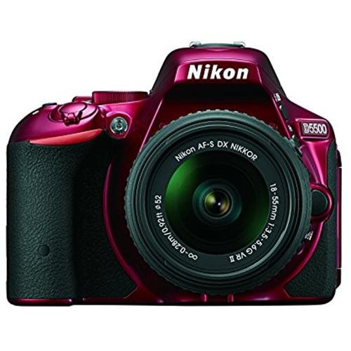 "Nikon D5500 24.2 Megapixel Digital SLR Camera with Lens - 18 mm - 55 mm - Red - 3.2"" Touchscreen LCD - 16:9 - 3.1x Optical Zoom - i-TTL - 6000 x 4000 Image - 1920 x 1080 Video - HDMI - PictBridge - HD Movie Mode - Wireless LAN 0"