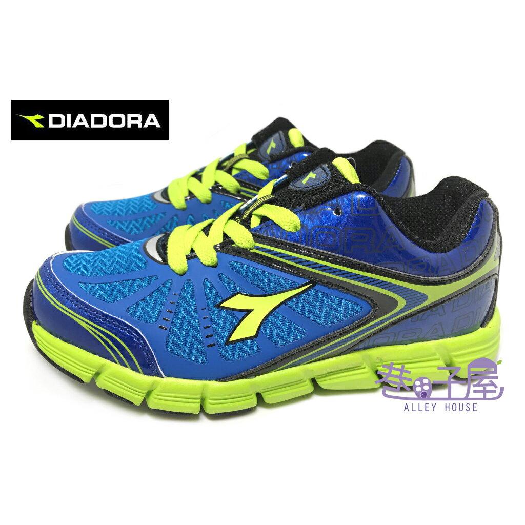 【巷子屋】義大利國寶鞋-DIADORA迪亞多納 男童赤足感亞洲寬楦超輕運動慢跑鞋 [2706] 藍