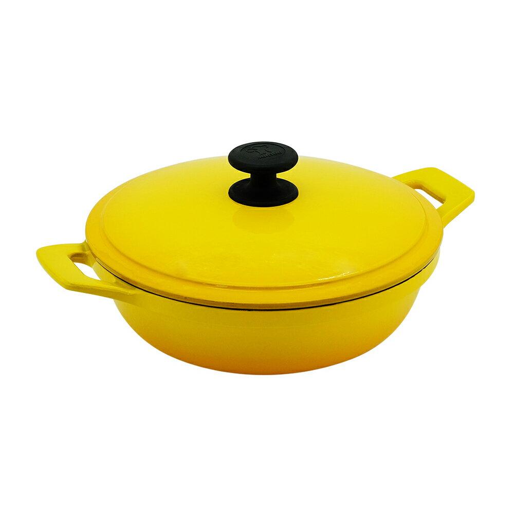 Multee摩堤 24cm鑄鐵媽媽鍋(容量2.3L 適合2-3人 鑄鐵鍋)