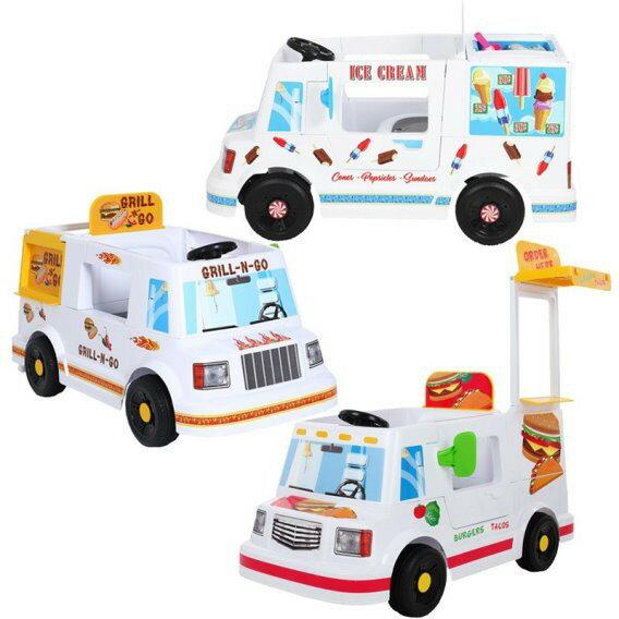 麗嬰兒童玩具館~馬克-胖卡電動車(冰淇淋 / 燒烤 / 漢堡)販售車.可騎乘兒童電動車 0