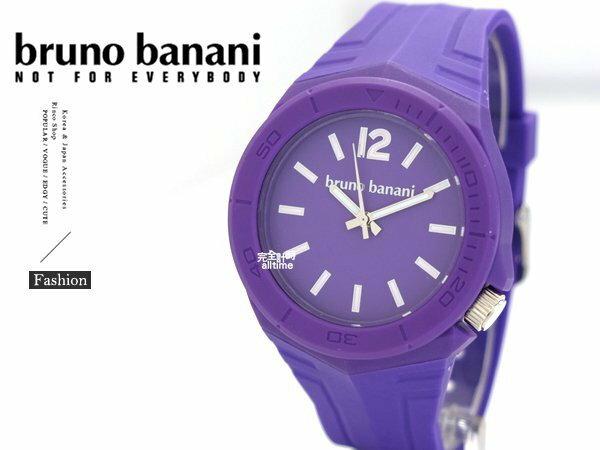 【完全計時】手錶館│德國時尚原裝bruno banani 矽膠錶帶 紫色 飾品 BR21053大錶徑 運動方型