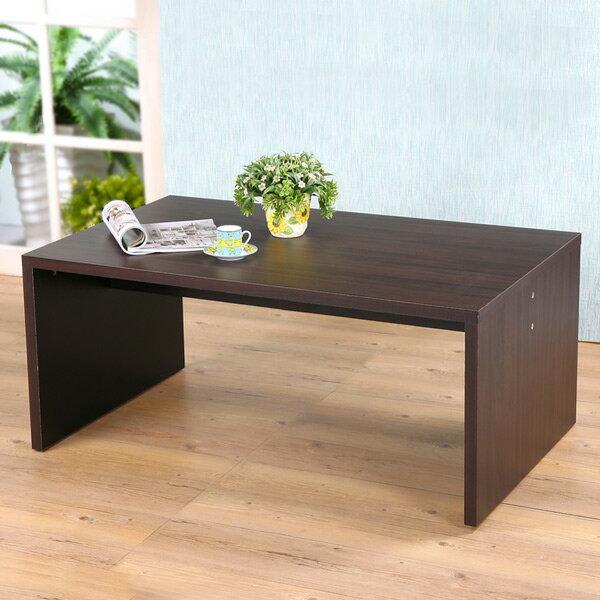 優世代居家生活館:茶几小茶几小方桌電話桌《Yostyle》美學方型大茶几-胡桃色