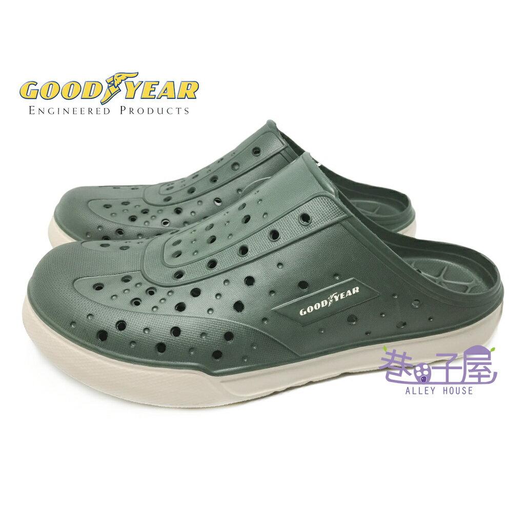 【巷子屋】GOODYEAR固特異 男款雙密度科技Q彈水陸鞋 洞洞鞋 [73805] 綠米 超值價$388