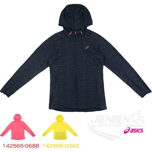 ASICS亞瑟士女運動慢跑外套(黑)FuzeX系列防潑水,伸縮性,輕量【胖媛的店】