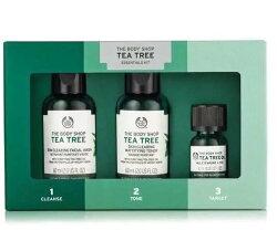 【彤彤小舖】The Body Shop 天然茶樹精選原裝禮盒 3件組 茶樹精油10ml 調理水60ml 潔面膠60ml