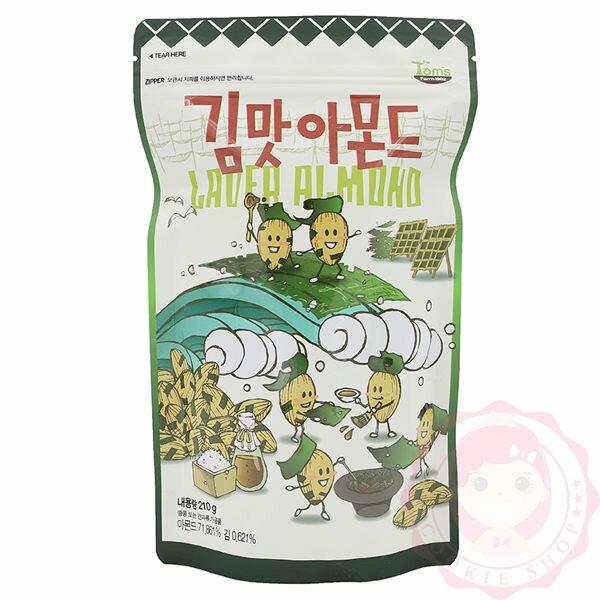 韓國TomsGilim海苔杏仁果進口零食(210g)【庫奇小舖】
