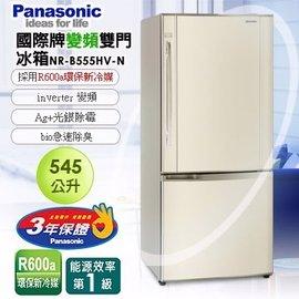 國際牌545公升變頻雙門冰箱(琥珀金)NR-B555HV-N