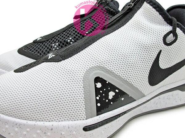 2020 強力登場 全明星球員 Paul George 個人最新簽名鞋款 NIKE PG 4 EP OREO PACK 白黑 潑墨 潑漆 拉鍊 襪套式內靴包覆 全腳掌 AIR 氣墊 籃球鞋 PG4 (CD5082-100) 0320 2