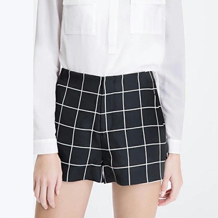 黑白簡約格子短褲