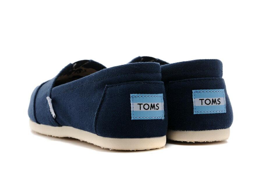 【TOMS】藍色素面基本款休閒鞋  Navy Canvas Women's Classics 4