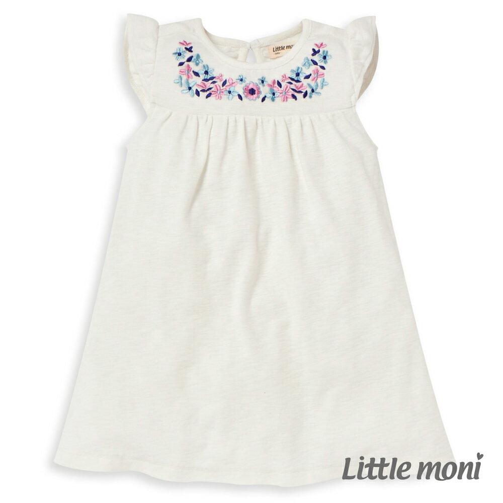 Little moni 繡花洋裝-象牙白