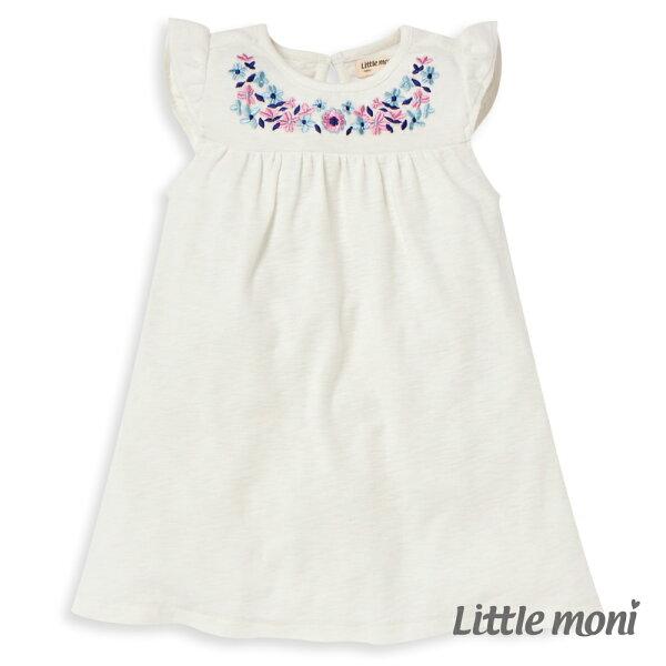 Littlemoni繡花洋裝-象牙白