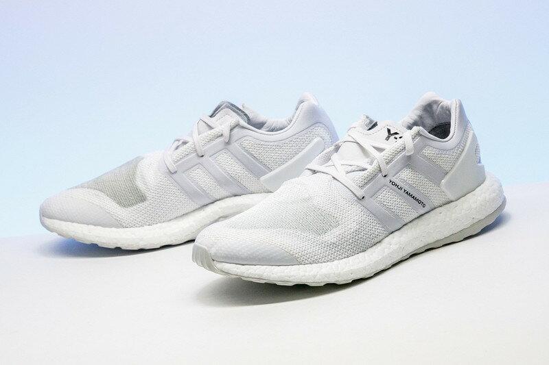 "adidas Y-3 Pure knit boost ""Triple White""灰白 男款"