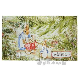 〔小禮堂〕彼得兔 短門簾《綠.兔媽媽.3隻寶寶》85x48cm